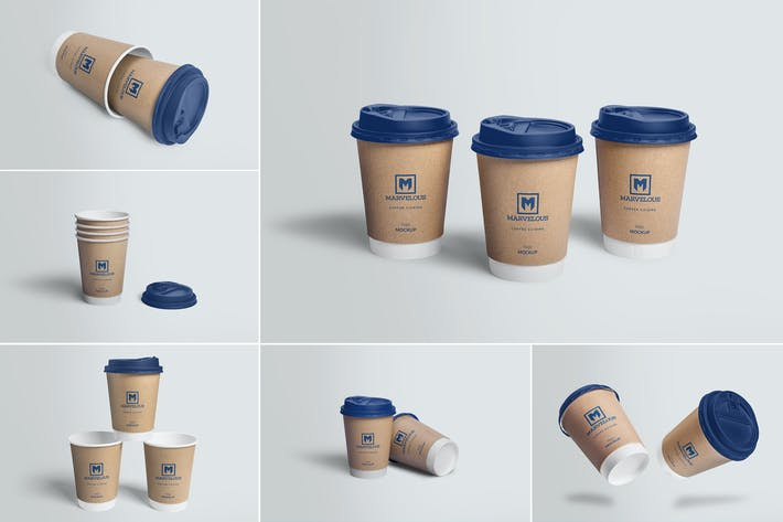 Thumbnail for 6 Awesome Coffee Cup Mockups