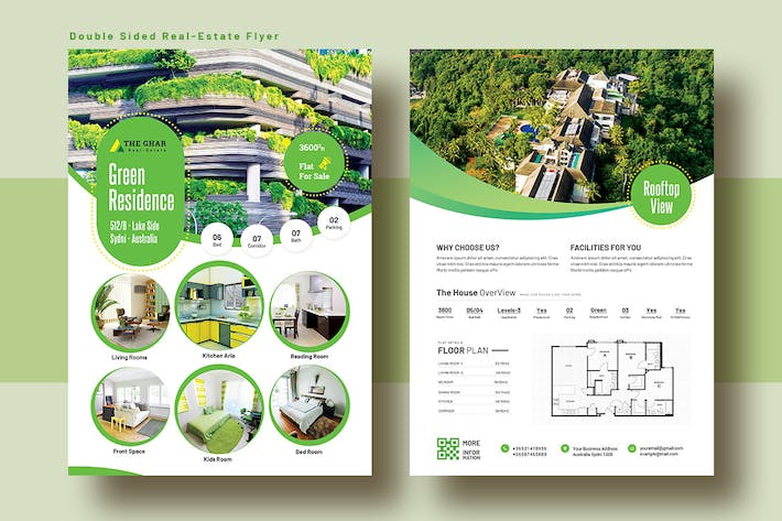 Thumbnail for Double Sided Real Estate Flyer Template V-8