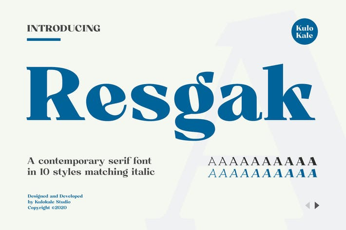 Thumbnail for Resgak Con serifa Fuente familiar