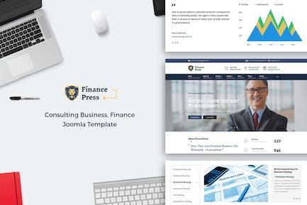 Финансы Пресс - Консалтинг Бизнес Joomla тема