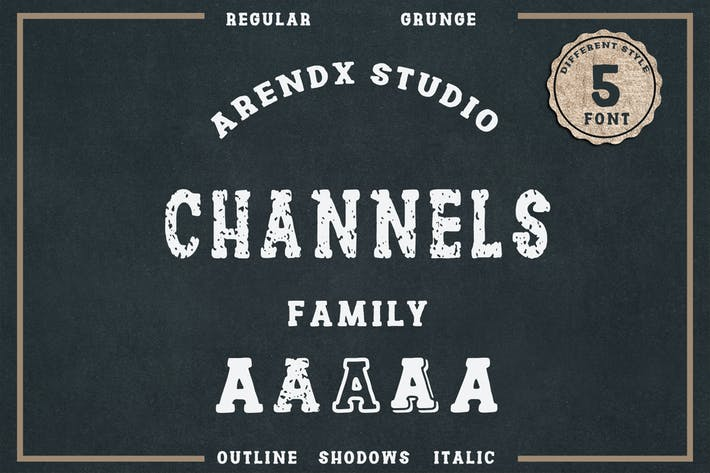 Thumbnail for Channels Family Vintage Font
