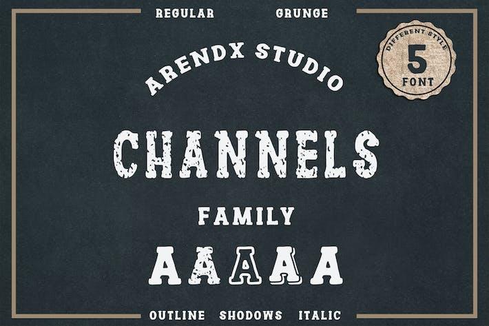 Thumbnail for Fuente vintage de la familia de canales