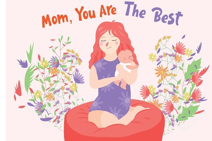 Thumbnail for Mom The Best - Vector Illustration