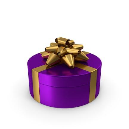 Ring Geschenkbox Violett Gold
