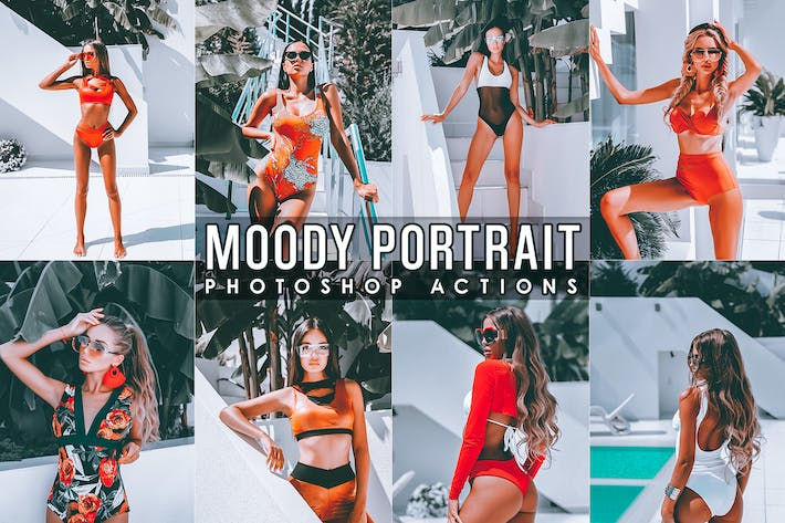 Thumbnail for Moody Portrait Photoshop Actions
