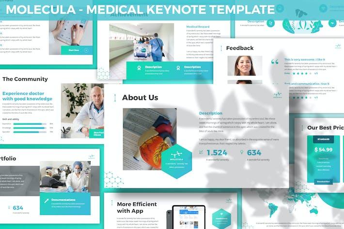 Thumbnail for Molecula - Medical Keynote Template