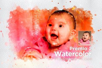 Премио 2 Акварель Photoshop Действие