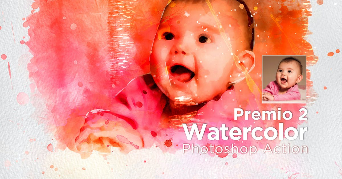 Download Premio 2 Watercolor Photoshop Action by walllow