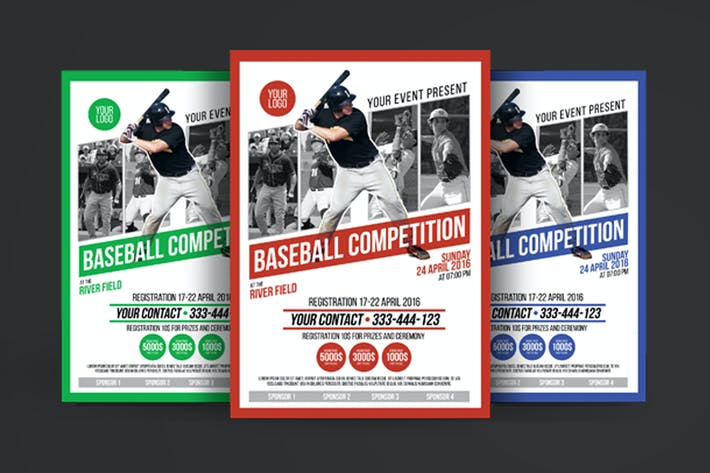 Thumbnail for Baseball Competition Poster Flyer