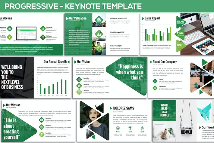 Cover Image For Progressive - Keynote Template