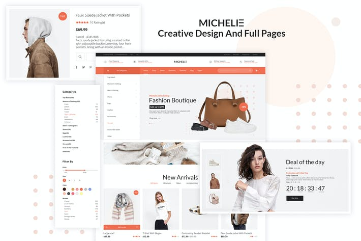 Thumbnail for Michelie - Ecommerce PSD Template