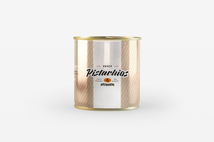 Tin Can Package Mockup
