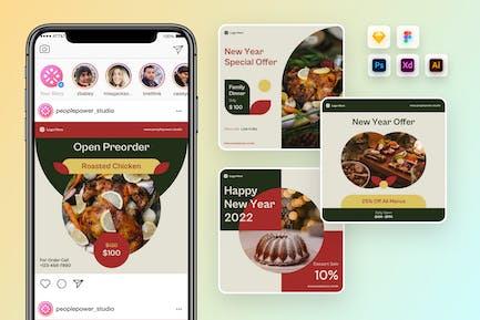 Food Restaurant Instagram Post Template