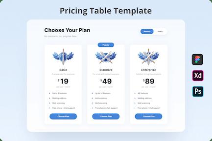 Pricing Plan UI