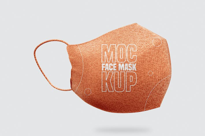Thumbnail for Face Mask Mockup - Vol 01