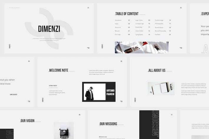 Thumbnail for Dimenzi Branding Guidelines Powerpoint Template