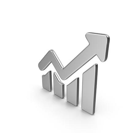 Símbolo de gráfico en crecimiento