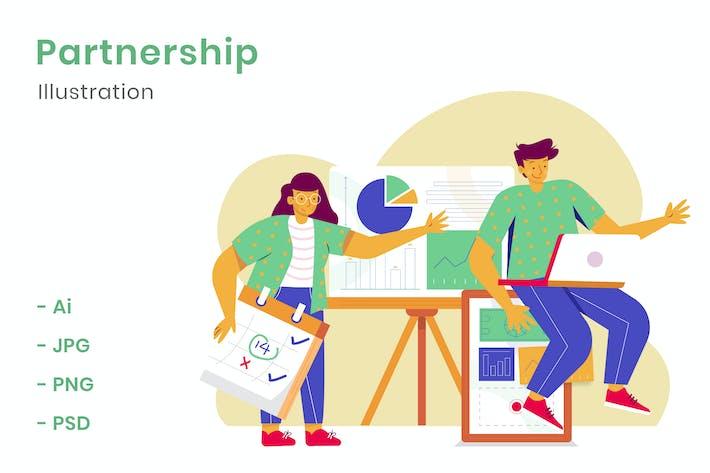 Thumbnail for Partnership Illustration