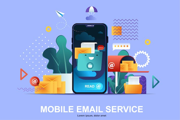 Thumbnail for Email Service Flat Concept Vector Illustration