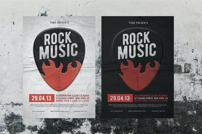 Thumbnail for Rock Music Flyer & Poster
