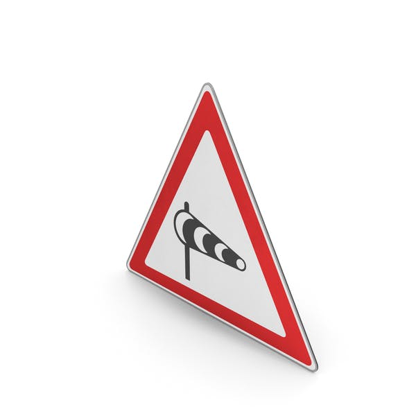 Road Sign Powerful Crosswinds Area