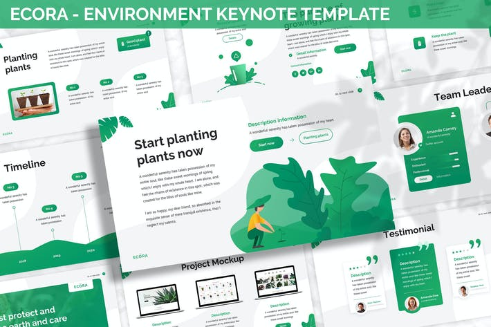 Thumbnail for Ecora - Environment Keynote Template