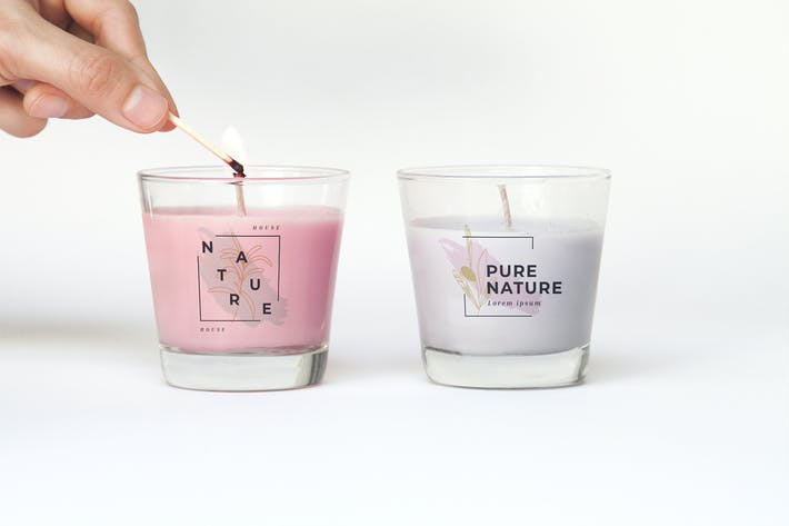 Thumbnail for Cosmetic Candle Glass Mockup