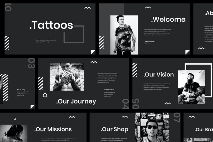 Thumbnail for Tattoo Powerpoint Presentation Template