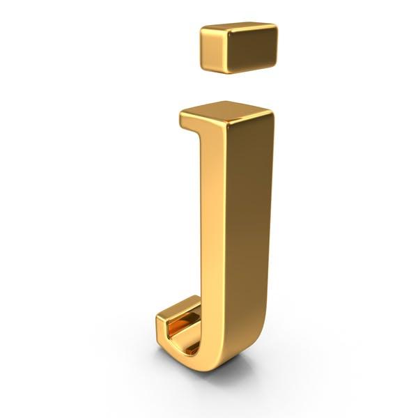 Золотая строчная буква j