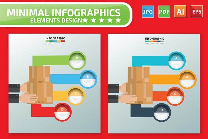 Thumbnail for Box Infographic Design