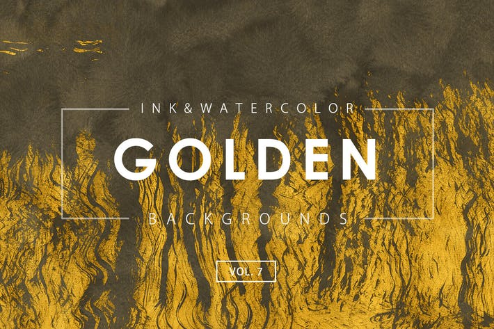 Thumbnail for Golden Ink Backgrounds 7