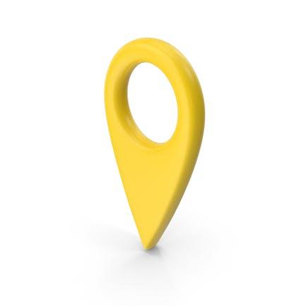 Желтая булавка карты