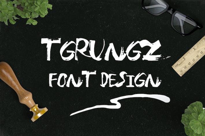 Thumbnail for T-grungz Font