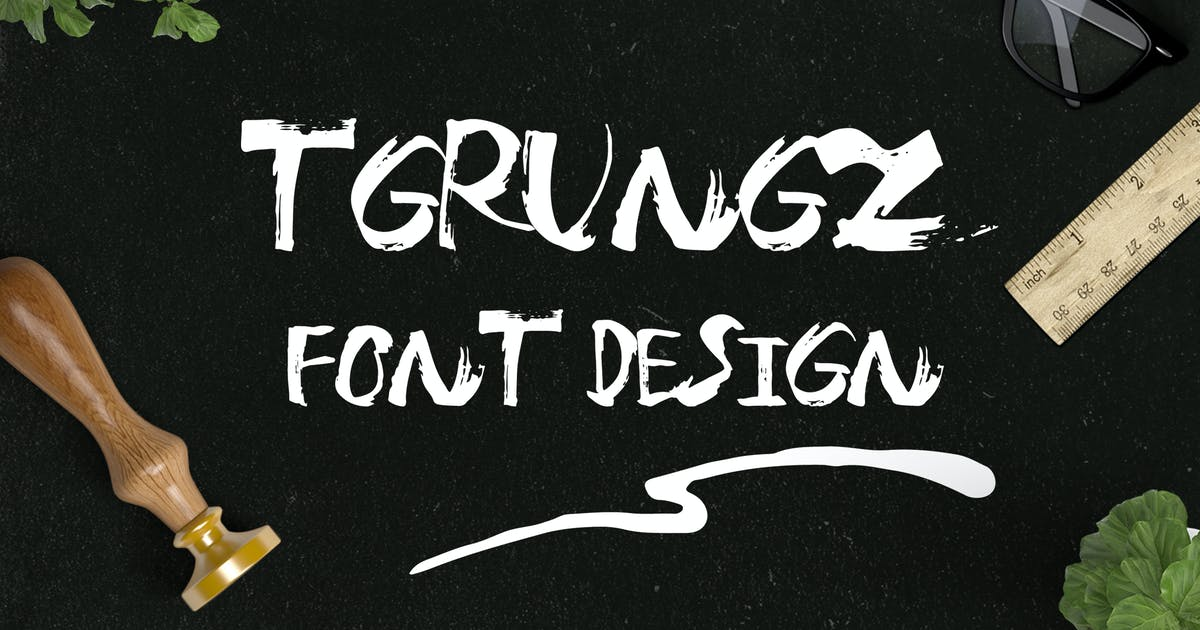 Download T-grungz Font by mamanamsai