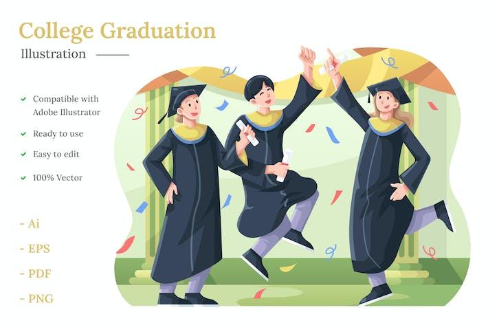College Graduation Illustration