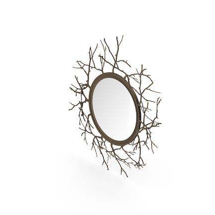 Round Twig Mirror