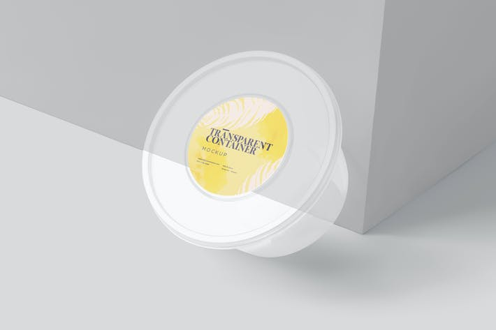 Thumbnail for Round Transparent Container Mockups