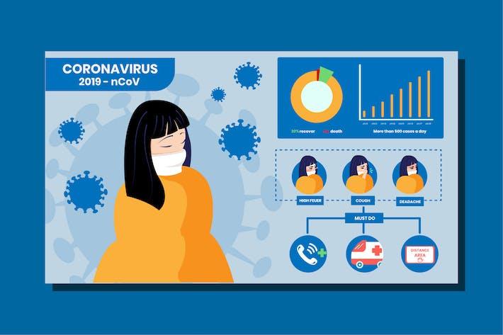 Thumbnail for Coronavirus infographic concept