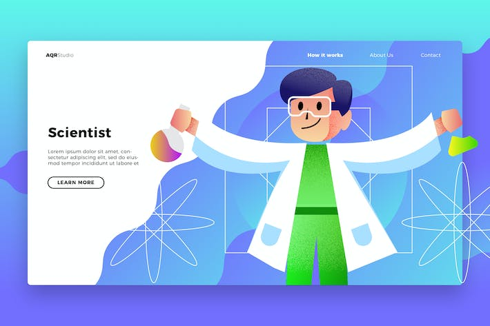 Thumbnail for Scientist - Banner & Landing Page