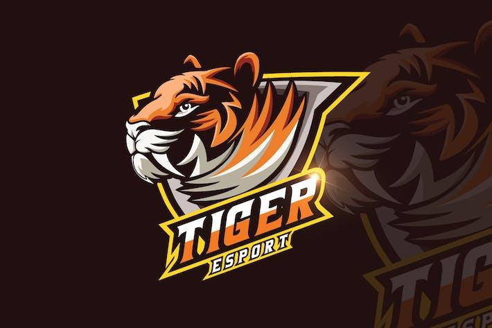 Thumbnail for Tiger Mascot & eSports Gaming Logo