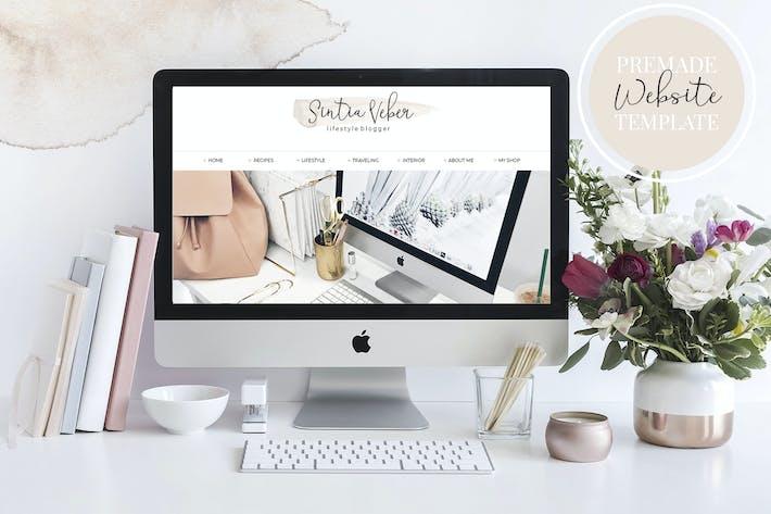 Thumbnail for Webdesign Template Blog V.3 Beige