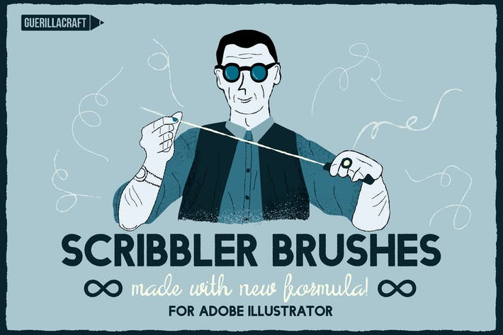 Thumbnail for Scribbler brushes for Adobe Illustrator