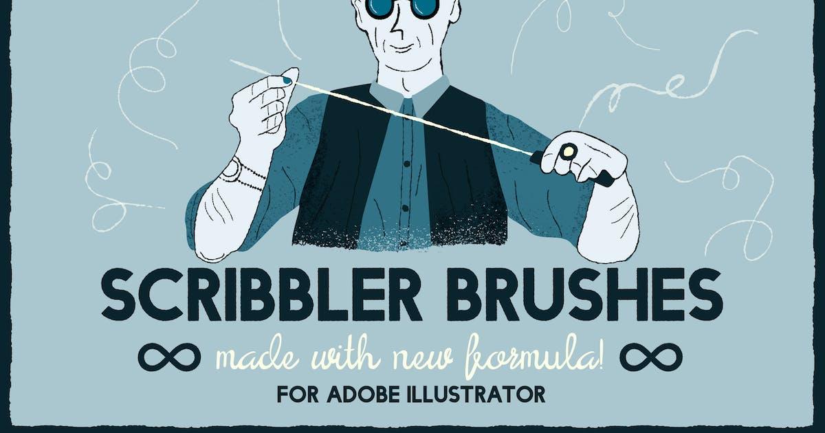 Download Scribbler brushes for Adobe Illustrator by guerillacraft