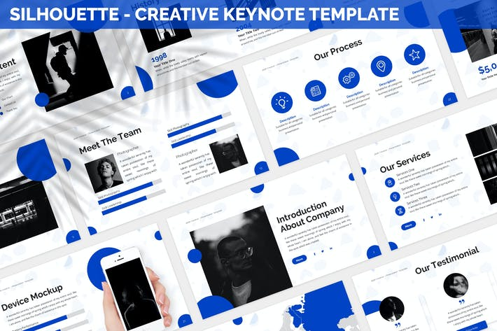 Thumbnail for Silhouette - Creative Keynote Template