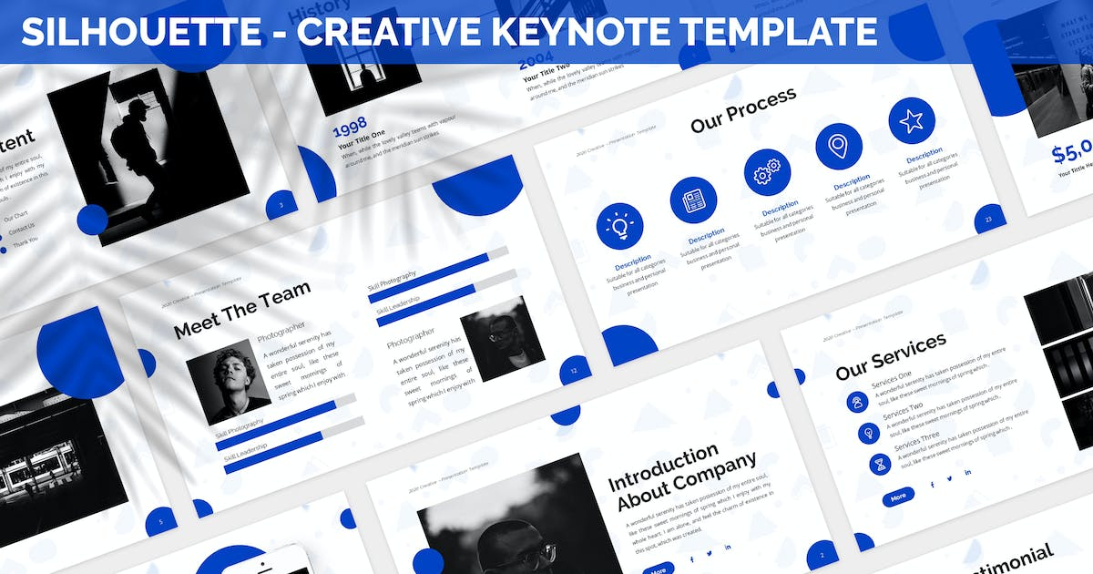 Download Silhouette - Creative Keynote Template by SlideFactory