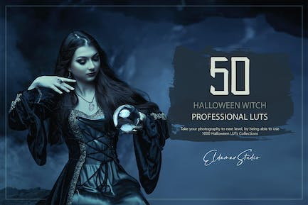 50 Halloween Witch LUTs and Presets Pack