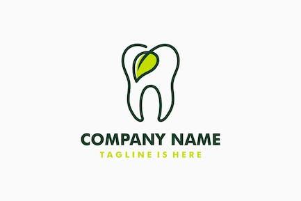 Dental Leaf Logo Template