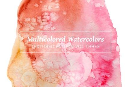 Multicolored Textured Watercolors Vol. 3