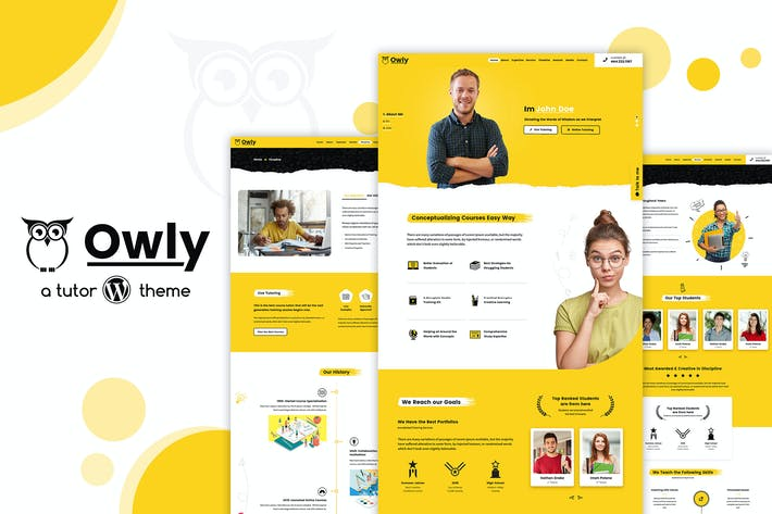 Thumbnail for Owly - elearning Education, Tutor WordPress Theme