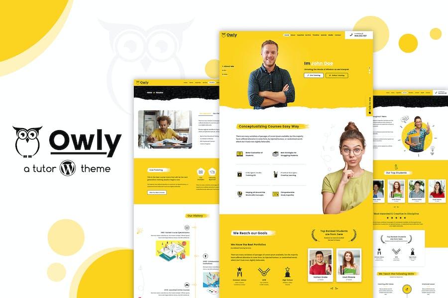 Owly - elearning Education, Tutor WordPress Theme